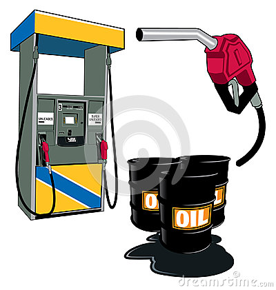 Oil and petrol
