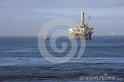 Oil platform in the Pacific Ocean