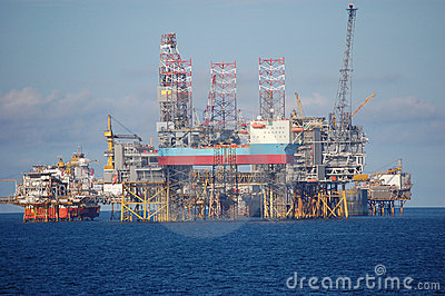 Oil platforms in North Sea