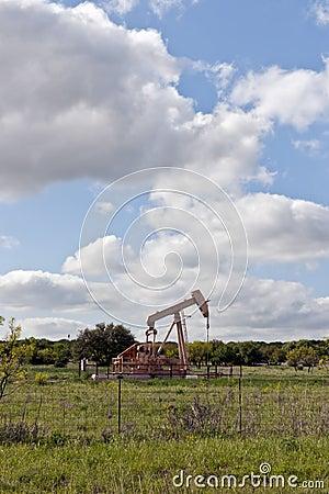 Oil pump on country farm