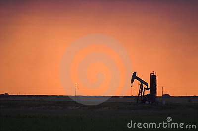 Oil Pump Jack in West Texas