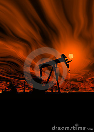 Oil Pump Under Hot Sky