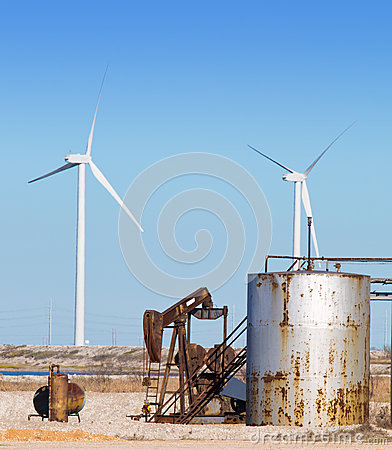 Oil Pump and Wind Turbines