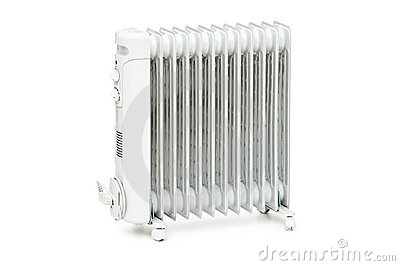 Oil radiator isolated