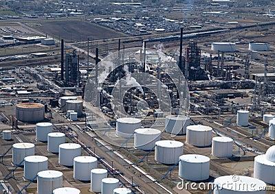 Oil Refinery Aerial