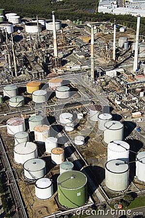 Oil refinery aerial.