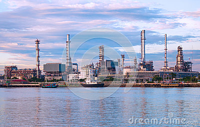 Oil refinery factory at Thailand