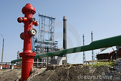 Oil refinery fire hydrant