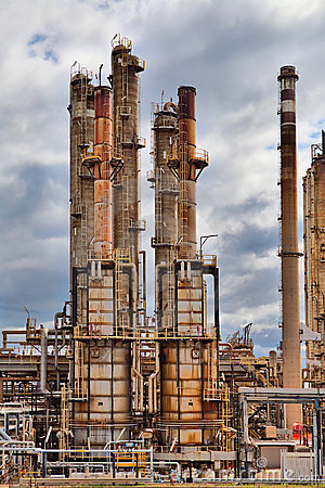 Oil refinery petrochemical industry plant