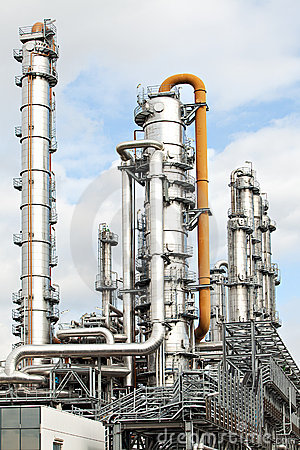 Oil refinery petroleum industry pipelines