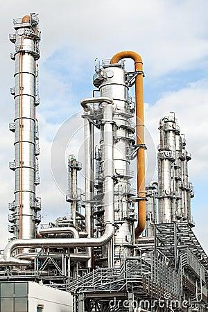 Oil refinery petroleum industry pipelines
