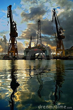 Free Oil Rig Royalty Free Stock Image - 1700686