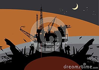 Oil rig Drillin