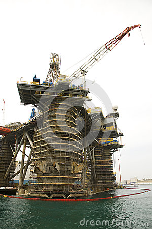 Oil Rig Repairs Editorial Stock Photo