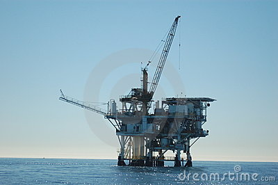 Oil Rig in the Pacific
