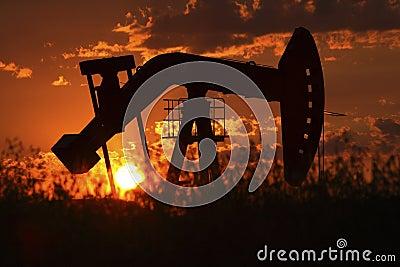 Oil rig pump jack