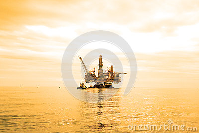 Oil Rig during