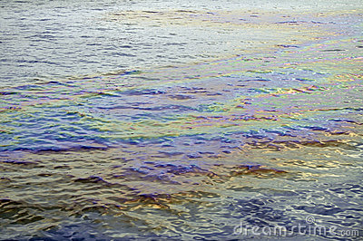 Oil slick iridescent rainbow