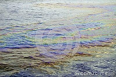 Oil slick iridescent rainbow