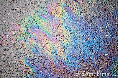 oil spill on asphalt road stock photos image 24652973