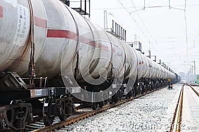 Oil tank truck train