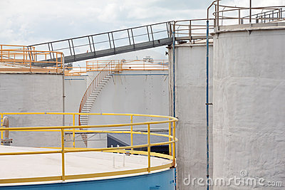 Oil Tanks with Stairs and Gangplank