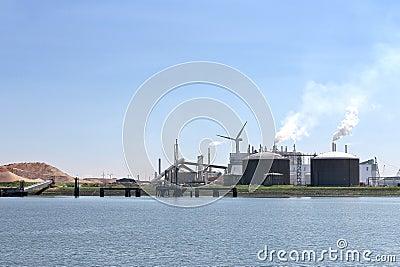 Oil terminal in the Dutch port.