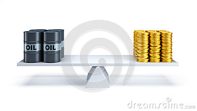 Oil trading concept