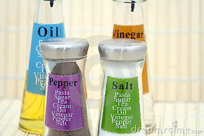 Oil, Vinegar, Salt & Pepper