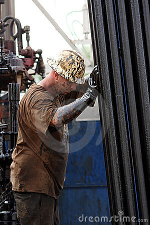 Oil Worker Taking A Break