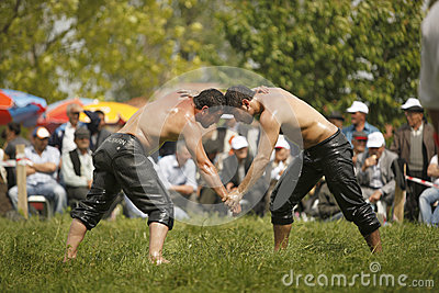 Oil wrestling in Turkey Editorial Image