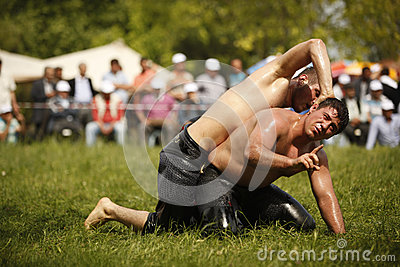 Oil wrestling in Turkey Editorial Photography