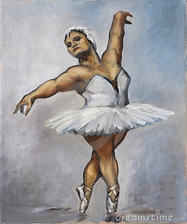Oilpainting - Fat Ballerina