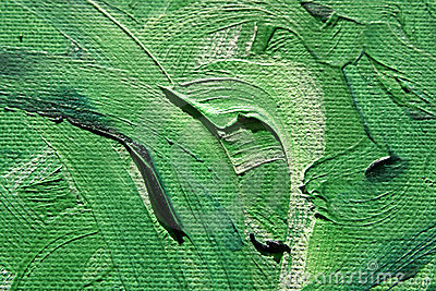 Oilpainting Green Curves