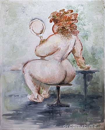 Oilpainting - Obese Woman