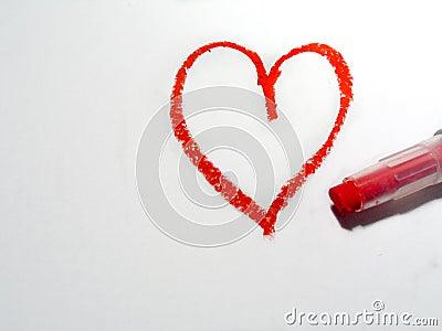 Oilpastel сердца