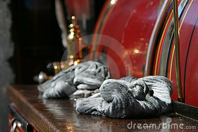 Oily cloths left on steam engine