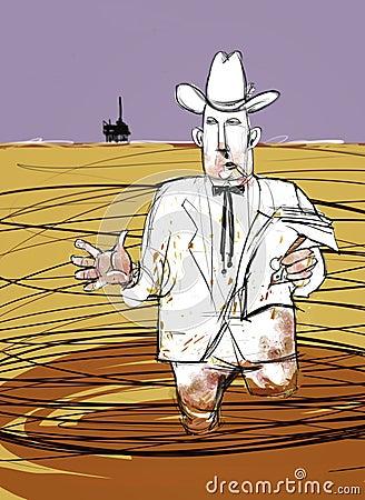Oily Oil Man Explains Offshore Oil Spill