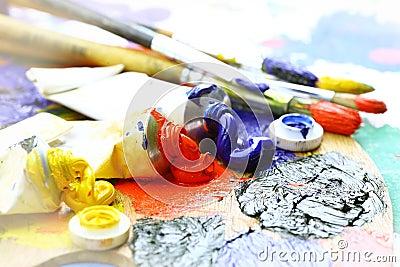 Oily paint