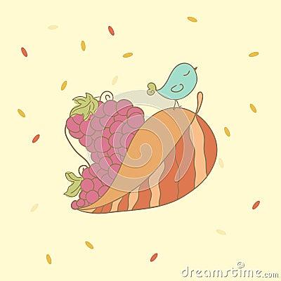Oiseau d automne