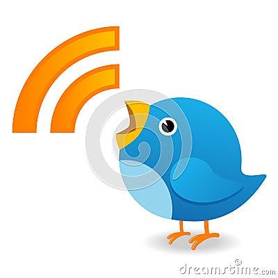 Oiseau de Twitter Image éditorial