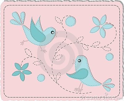 Oiseaux piqués bleus