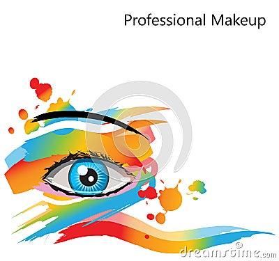 Ojo abstracto del maquillaje