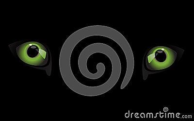 Ojo del lobo en la obscuridad