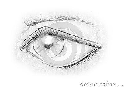 Ojo en blanco y negro