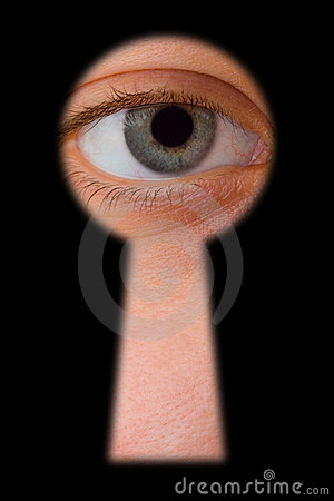 Ojo en ojo de la cerradura