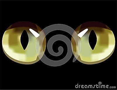 Ojos de gato en obscuridad