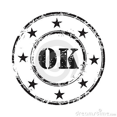 Ok abstract grunge rubber stamp background