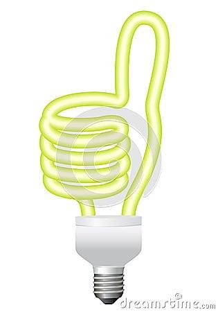 Ok hand bulb, vector