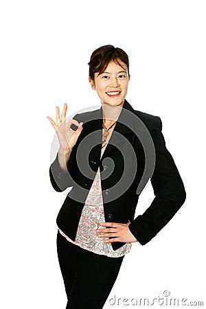 ''OK'' Japanese businesswoman